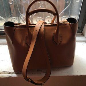 39e3ea1c6f304 Michael Kors Bags - Michael Kors Helena Italian Calf Leather Satchel
